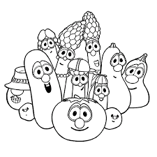 veggie tales coloring pages free veggietales coloring page