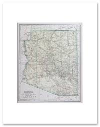 Arizona Map With Cities And Towns by States A G Vintage Maps