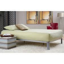 queen size luna metal platform bed frame with wood slats