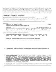 10 Contractor Non Compete Agreement 50 Free Independent Contractor Agreement Forms Templates