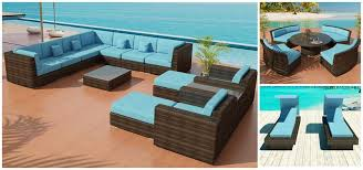 Outdoor Patio Furniture Sectionals Bellagio Bronze Java Or White Wicker Sectional Sofa