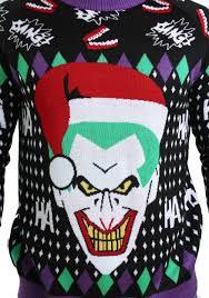 joker santa ugly christmas sweater