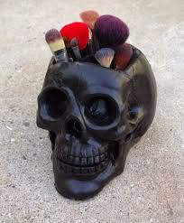 acrylic skeleton ring holder images How to make a skull makeup brush holder makeup brush holders jpg