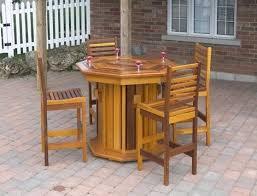 patio furniture bar table western octagon patio bar table has a