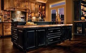 black rustic kitchen cabinets by kraftmaid kitchen designs ideas