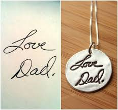 custom handwriting necklace custom handwriting or artwork necklace from by tagyoureitjewelry