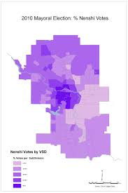 Election Maps Are Telling You Fun With Maps Top 3 Calgary Mayoral Candidate Vote Share U2013 Djkelly Ca