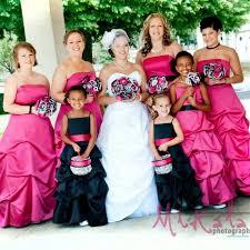 Pink And Black Bridesmaid Dresses Pink Bridesmaids Dresses And Black Flower Dresses With