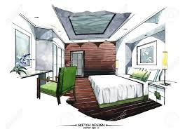vector interior sketch design watercolor sketching idea on