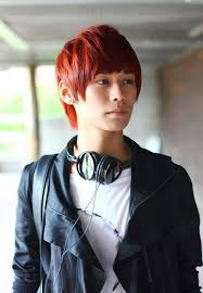 pictures of short red korean hairstyle for young guys