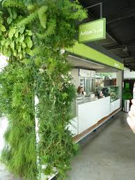 wonderful cafe u0027s decoration with outdoor green wall design combine