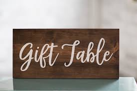 wedding gift table sign wedding gift table wooden sign decor baby shower gift table
