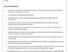 Phlebotomist Job Description Resume by Job Description Freewordtemplates Net