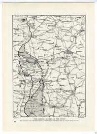 Ww1 Map 1917 Ww1 Map Battles Of Ancre Somme Front Bapaume Peronne Picardy
