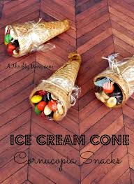 these are cone cornucopia snacks celebrate