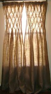 Smocked Burlap Curtains Smocked Burlap Curtains Bazaraurorita