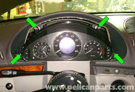 mercedes benz w211 instrument cluster removal and replacement