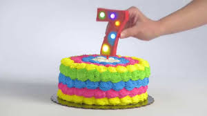 flashing number 7 cake decoration youtube