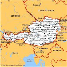 map germany austria map of austria and germany with cities major tourist