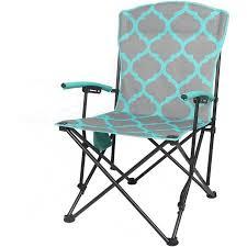 Basic Chair Ozark Trail Basic Hard Arm Chair Blue Walmart Com