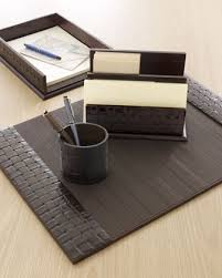 woven leather desk accessories office pinterest desk