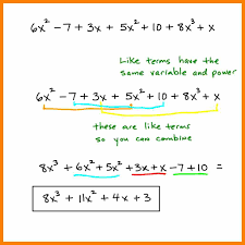 combining like terms with exponents worksheet the best and most