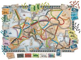 European Map Game by Ticket To Ride Europe Game Amazon Co Uk Toys U0026 Games