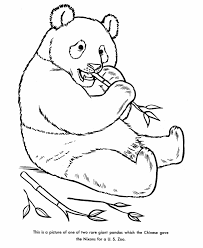 zoo animal coloring pages panda bear coloring kids