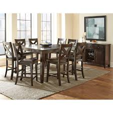 Tall Wooden Counter Height Farmhouse Table Wooden Dining Table Set 9 Piece Kitchen U0026 Dining Room Sets Hayneedle