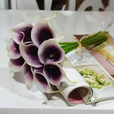 picasso calla 18 stems picasso calla bouquet for bridal bridesmaids bouquet