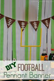 Diy Football Decorations How To Make A Diy Football Pennant Banner Pennant Banners