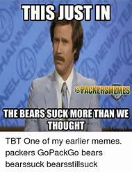 Packers Bears Memes - best 25 ideas about green bay packers memes find what you ll love