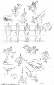spider man animation reference sheet art comics reference