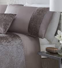 luxury boulevard crushed velvet panel duvet quilt cover bedding