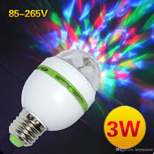 best e27 3w colorful auto rotating rgb led bulb stage light party