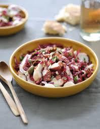 poulpe cuisine salade de poulpe pour 4 personnes recettes à table