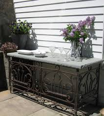 Outdoor Console Table Entertaining Space Traditional Patio Newark By Susan Cohan