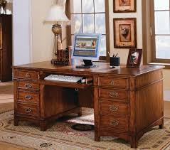 Office Desk Styles Kathy Ireland Mission Computer Desk With Pedestal