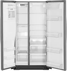 refrigerators with glass doors whirlpool wrs571cidm 36 inch counter depth side by side