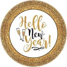 new years party packs new years party plates gold glitter 18 count 3 pack 10 5 in party