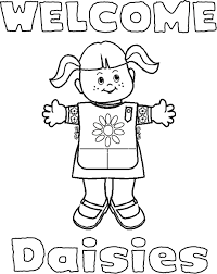 daisy scout coloring pages daisy scouts daisy scouts