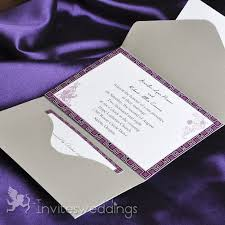 Purple And Silver Wedding Invitations Pocket Wedding Invitations Cheap Invites At Invitesweddings Com