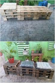 Wooden Pallet Patio Furniture by 188 Best Pallet Outdoor Furniture Images On Pinterest Pallet
