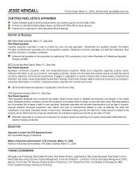 Sample Resume For Real Estate Agent by Appraiser Resume Example Real Estate Appraiser Resume Free