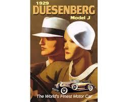 1929 duesenberg model j new retro luxury car poster art deco