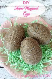diy twine wrapped eggs simplistically living