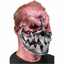 latex for halloween makeup lock jaw metal muzzle monster dress up halloween costume makeup