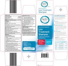 signature care lice treatment shampoo safeway