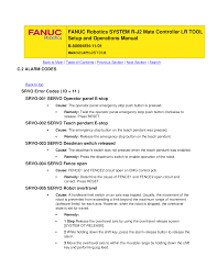 fanuc r j2 fault codes documents