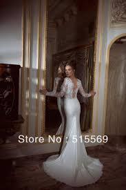 free shipping simple elegant formal low v back trumpet zuhair